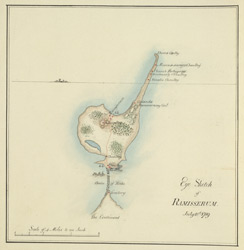 Sketch-map of Rameswaram. 10 July 1789